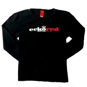 Ecko Red Vintage 90s Shirt Black Red Medium